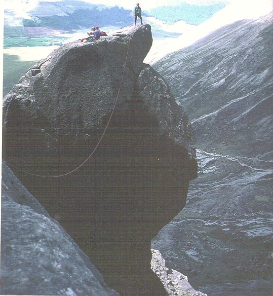 Rock Climbing Photo: Climbers on the famous Cioch ,Isle of Skye. Photo ...