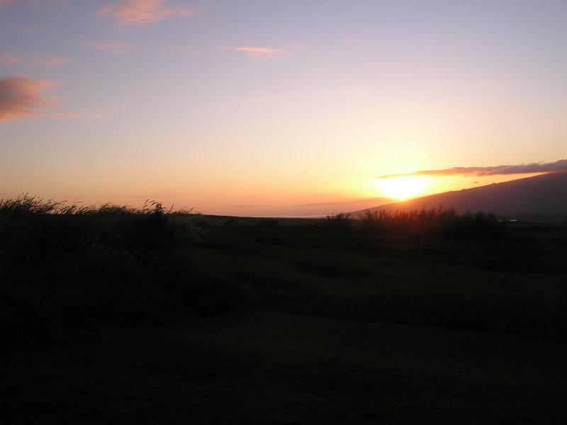 sunset from my lanai