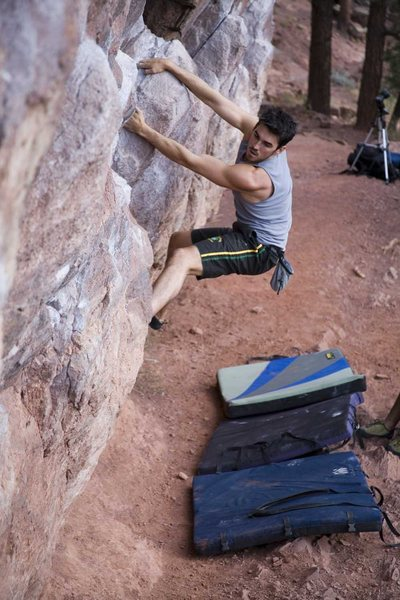 Rock Climbing Photo: Chuck Lepley on The Monkey Traverse.