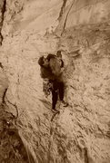 Rock Climbing Photo: Russel Husted climbs Fool's Gold. FoleyPhoto