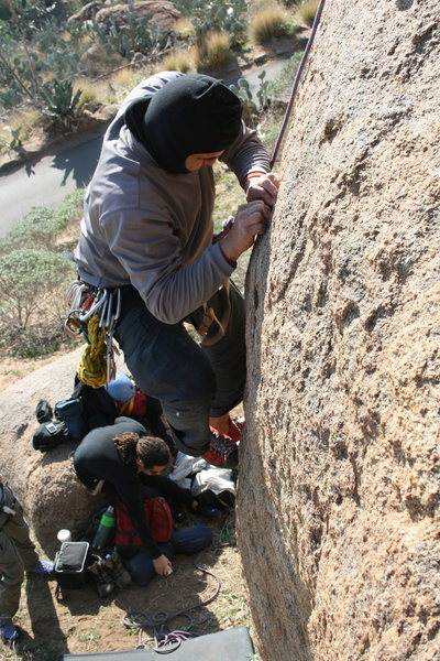 Albert on the first climb. 1-17-10