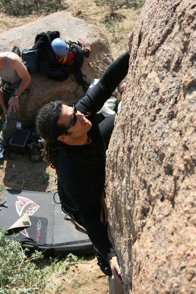 RastaRaj on the first climb. 1-17-10