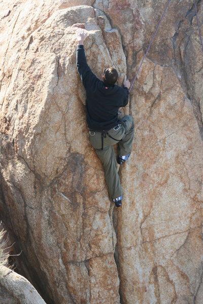 David on Direct Northwest Face (aka Left Half Dome Crack). 1-17-10