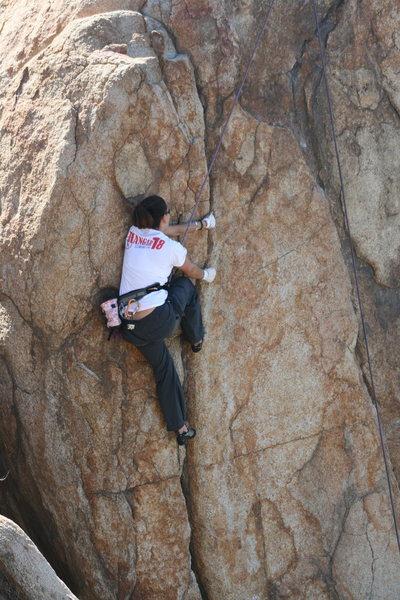 Agina on Direct Northwest Face (aka Left Half Dome Crack). 1-17-10