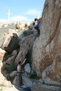 Rock Climbing Photo: David belays Agina on Unisloper. 1-17-10