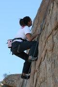 Rock Climbing Photo: Agina on Unisloper. 1-17-10