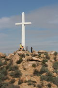 Rock Climbing Photo: The Cross at the top of Mount Rubidoux on a beauti...