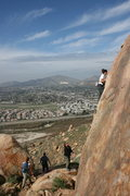 Rock Climbing Photo: Agina unknown climb to the right of Power Pak. 1-1...