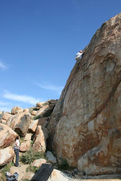 Rock Climbing Photo: Johnson solo on the Waterchute. 1-17-10