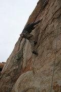 Rock Climbing Photo: Johnson with a quick solo up Unisloper. 1-17-10