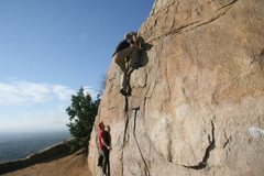 Rock Climbing Photo: Perfect weather sees the boys playing at the Beehi...