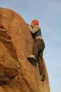 Rock Climbing Photo: Tim mid crux on Peppertree Left, V0