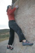 Rock Climbing Photo: Moving into the crux of Peppertree Right, V4