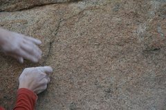 Rock Climbing Photo: Crimping at Rubidoux