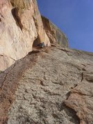 Rock Climbing Photo: Use a long sling if you place gear in that alcove ...