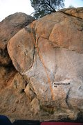 Rock Climbing Photo: Peppertree Wall Left Topo