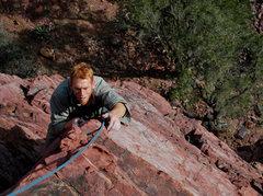 Rock Climbing Photo: Red finishing Crystal Ship