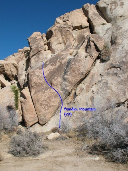 Rock Climbing Photo: Bandini Mountain (V3), Joshua Tree NP