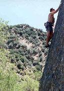 Rock Climbing Photo: Reese Martin leading Menage a Trois at Potrero Joh...