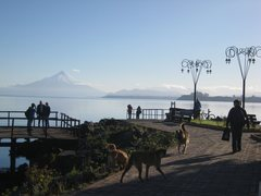 Rock Climbing Photo: Volcan Osorno and Lago Llanquihue from the waterfr...