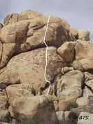 Rock Climbing Photo: Topo for Sunny Delight.  Base photo ruthlessly sto...