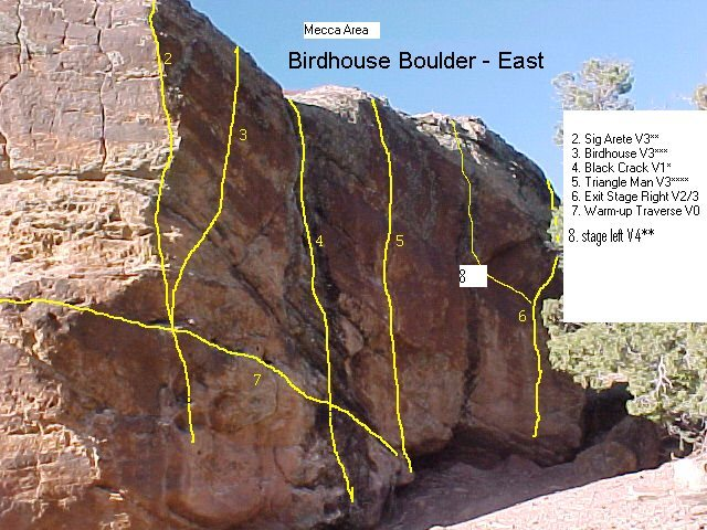 Rock Climbing Photo: Birdhouse Boulder SE side (faces the road).