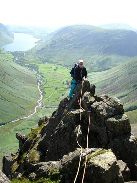 On Needle Ridge with the Wasdale Valley below. Photo Ron Kenyon