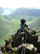 Rock Climbing Photo: On Needle Ridge with the Wasdale Valley below. Pho...