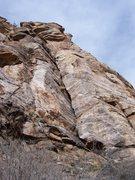 Rock Climbing Photo: J. Fox at the crux of pitch 1.