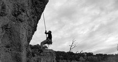 Rock Climbing Photo: Rappeling off of Flesh Tuxedo.