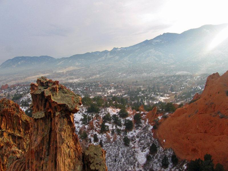 Rock Climbing Photo: Looking south on the Kindergarten Rock.