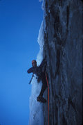 Rock Climbing Photo: Dave Sheldon sporting a bright new rope. Month: Oc...