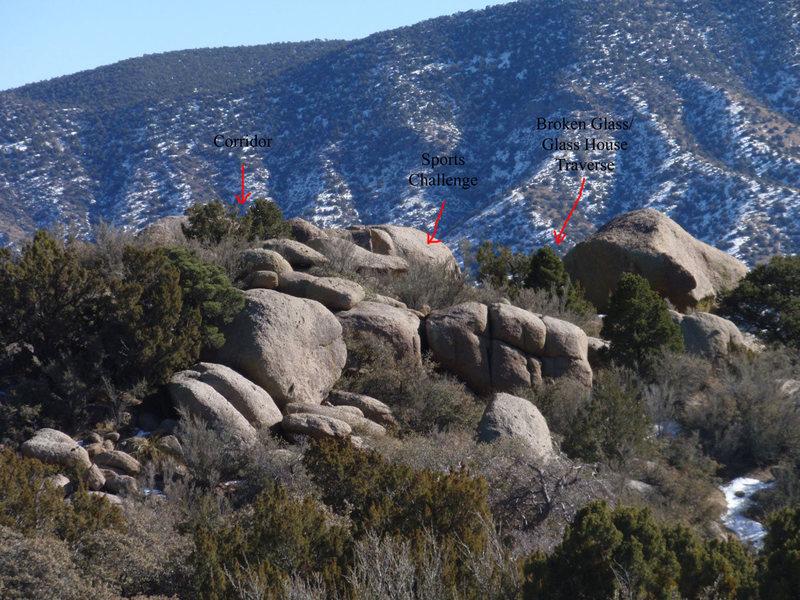 Rock Climbing Photo: Overview of where the boulders are in the Crystal ...