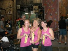 Rock Climbing Photo: Team Tiny cleaning up on the ribbons