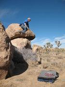 Rock Climbing Photo: Even the descent can be fun, Joshua Tree NP