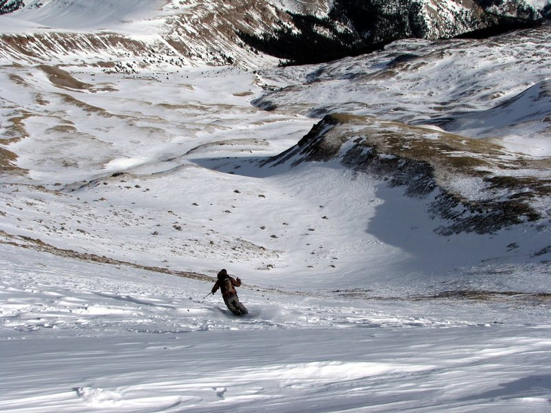 Rock Climbing Photo: Skiing Uncompahgre