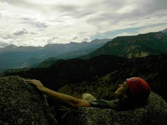 Rock Climbing Photo: Chillin' on the top of Osiris.