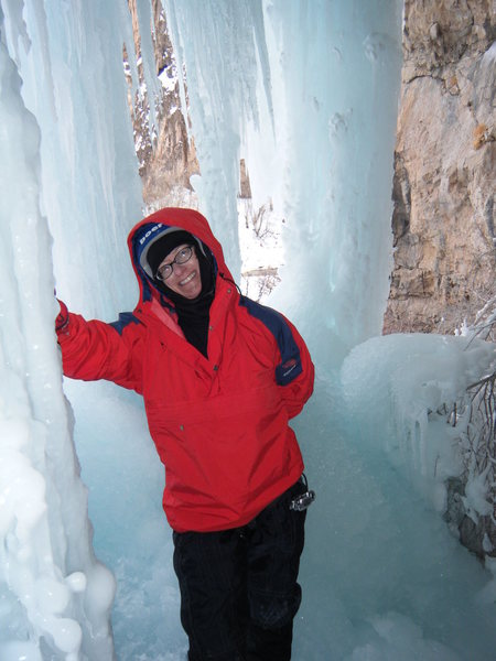 Lynda Christensen behind Soul On Ice. 1/16/10.