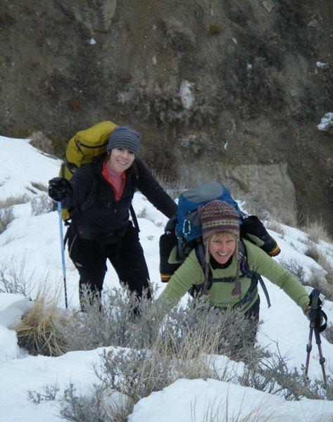 Rock Climbing Photo: Dawn Wieker and Betty Thorson. Bad Ass mountain wo...