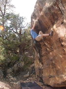 Rock Climbing Photo: Will Hays sets up to finish Amigos.