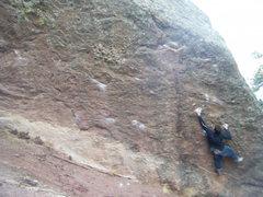 Rock Climbing Photo: Misha on Sandpaper Ledge.