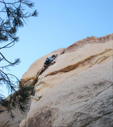 Rock Climbing Photo: In the middle of the crux.  I really enjoyed this ...