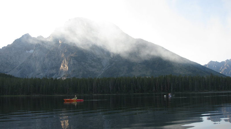 Rock Climbing Photo: Others paddlers on the lake.