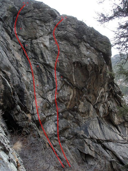 Rock Climbing Photo: G'Owen Rogue is on the left and Twitch is on the r...