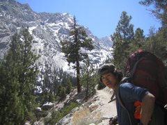 Rock Climbing Photo: Mt. Whitney - Mountaineer's Route (3rd class) Apri...