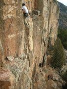Rock Climbing Photo: Brian nearing the anchors.
