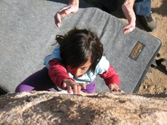 Rock Climbing Photo: Jessica at The Riviera, Joshua Tree NP