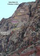 Rock Climbing Photo: Solar Salb (5.6) The Way we Climbed it.