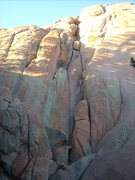 Rock Climbing Photo: The wider crack to the right of the nice looking f...