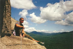 Rock Climbing Photo: My first trip to Cathedral Ledge. Summer 2000. Boo...